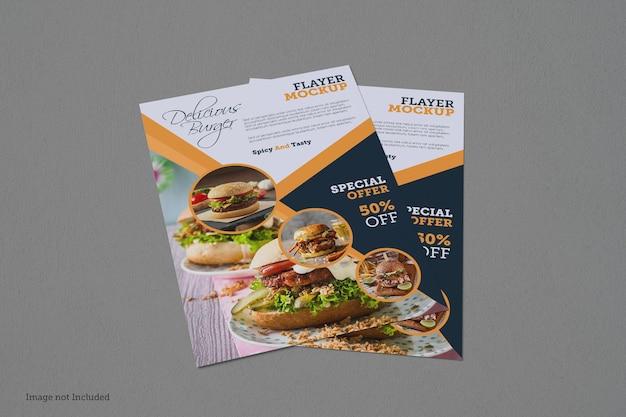 Flyer mockup-designs in 3d-renderings in 3d-renderings