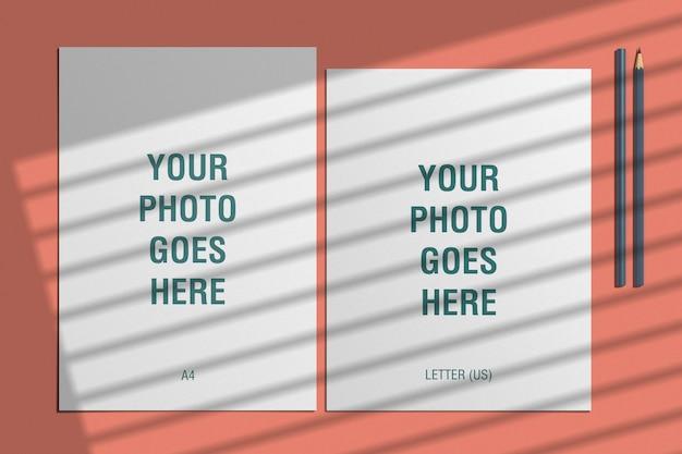 Flyer-modell für a4- und us-letter-formate