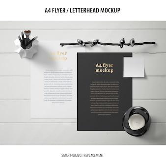 Flyer oder briefkopf mockup