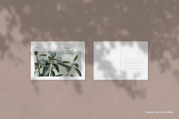 Flyer / postkartenmodell