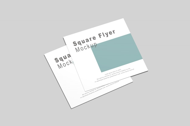 Flyer square mock-up