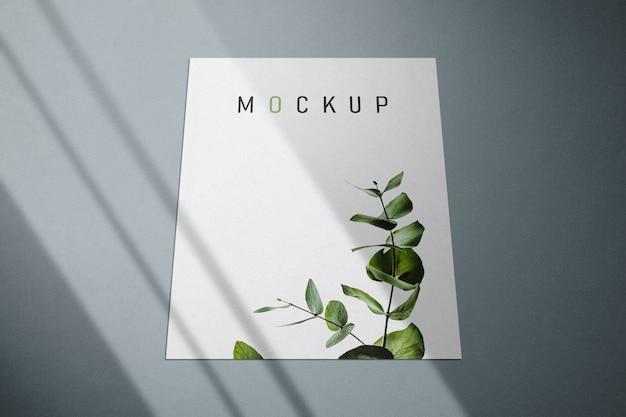 Flyer- und plakatmodell mit schatten