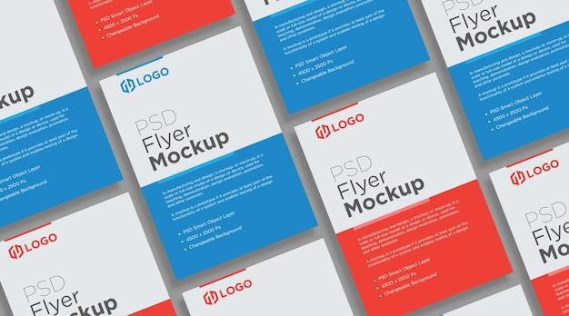 Flyer und poster mockup collage design