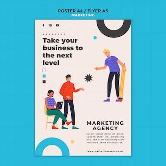 Flyer-vorlage der marketingagentur