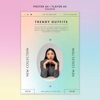 Flyer-vorlage der modekollektion