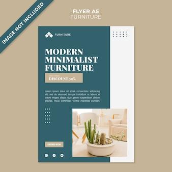 Flyer-vorlage des modernen möbelkonzepts