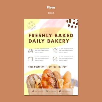 Flyer vorlage frisch gebackene tägliche bäckerei