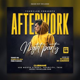 Flyer vorlage für after work night party