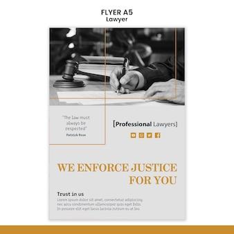 Flyer-vorlage für anwaltskanzleien