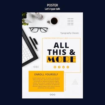 Flyer-vorlage für arbeitsproduktivität
