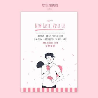 Flyer-vorlage für bäckerei-anzeigen