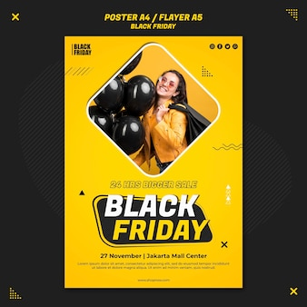 Flyer vorlage für black friday sale