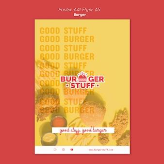 Flyer vorlage für burger restaurant