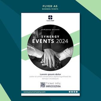 Flyer vorlage für business expo