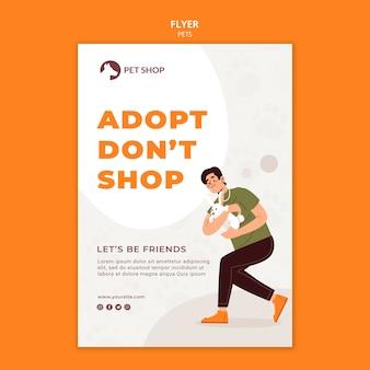 Flyer-vorlage für das adoptionskonzept