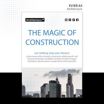 Flyer-vorlage für das architekturkonzept