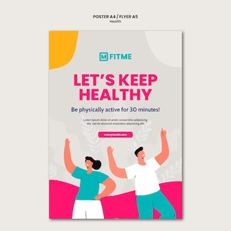 Flyer-vorlage für das gesundheitswesen