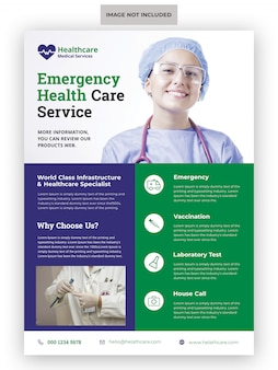 Flyer-vorlage für das medizinische gesundheitswesen