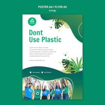 Flyer-vorlage für das ökologiekonzept