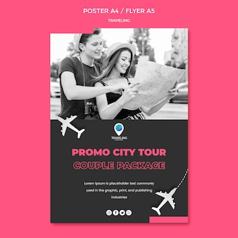Flyer-vorlage für das reisekonzept