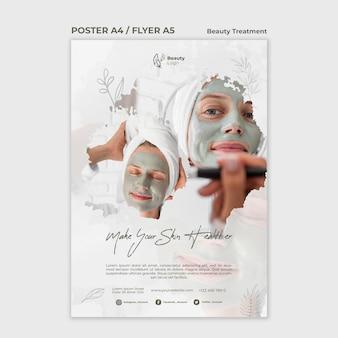 Flyer-vorlage für das schönheitsbehandlungskonzept