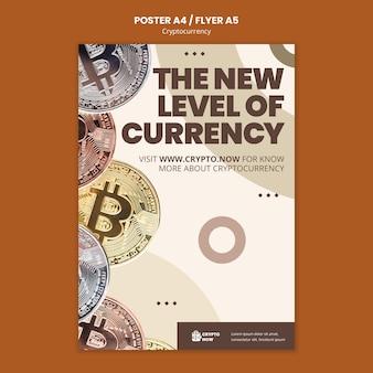 Flyer-vorlage für den krypto-handel lernen