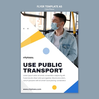 Flyer vorlage für den öffentlichen nahverkehr