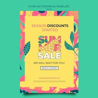 Flyer vorlage für den sommerverkauf