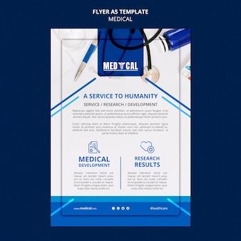 Flyer-vorlage für die coronavirus-impfung