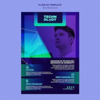 Flyer-vorlage für die farbverlaufstechnologie