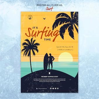 Flyer vorlage für die surfzeit