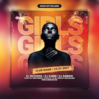 Flyer vorlage für dj-nachtclub-party