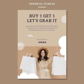 Flyer-vorlage für einkaufswerbung