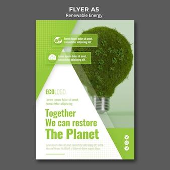 Flyer vorlage für erneuerbare energien