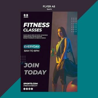 Flyer vorlage für fitness-klasse
