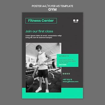 Flyer vorlage für fitnesstraining