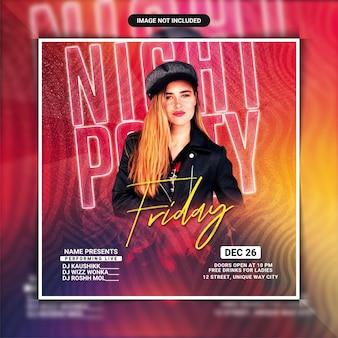 Flyer vorlage für freitagabendparty