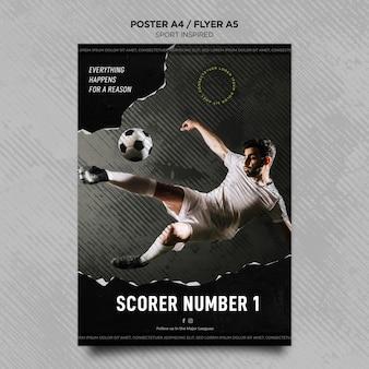 Flyer vorlage für fußballverein
