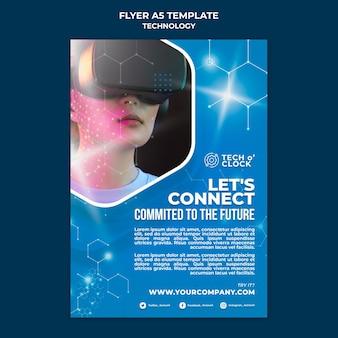 Flyer-vorlage für geräte mit virtueller realität