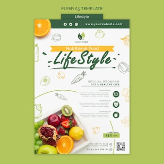 Flyer vorlage für gesunde ernährung
