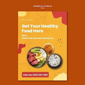 Flyer-vorlage für gesundes essen