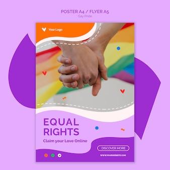 Flyer-vorlage für gleichberechtigung