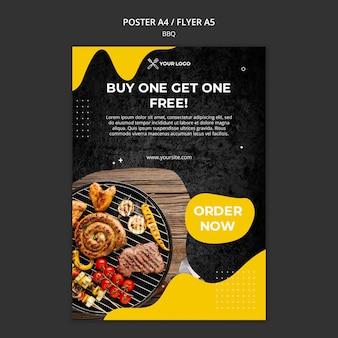 Flyer vorlage für grillrestaurant