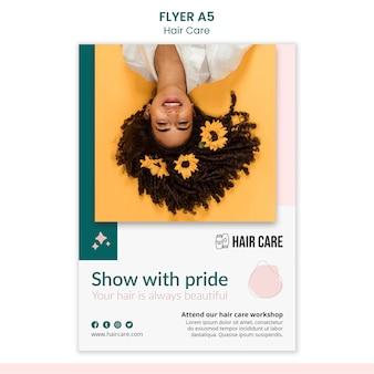 Flyer-vorlage für haarpflegetechniken