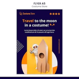 Flyer vorlage für halloween-kostüme