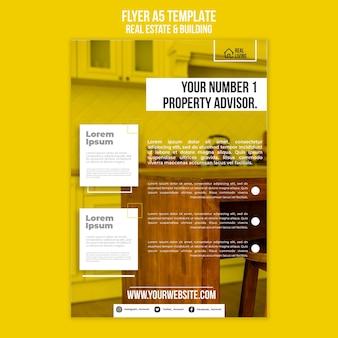 Flyer vorlage für immobilien und gebäude