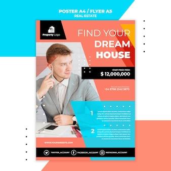 Flyer vorlage für immobilienunternehmen