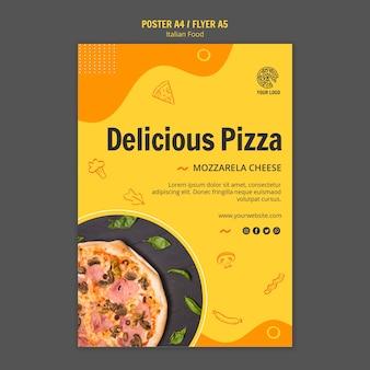Flyer vorlage für italienisches food bistro