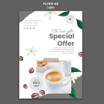 Flyer vorlage für kaffee