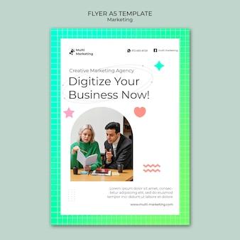 Flyer-vorlage für kreative marketingagenturen